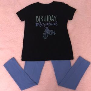 Girls Birthday Mermaid Outfit
